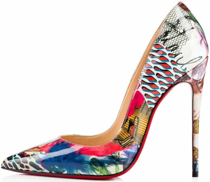 "Christian Louboutin ""So Kate"" pumps in multicolored patent trash"
