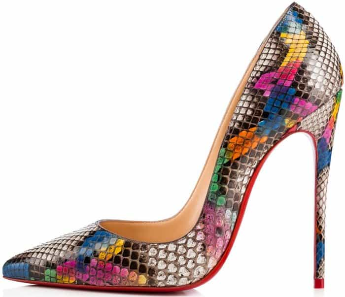 """Christian Louboutin """"So Kate"""" pumps in ultra rose python"""