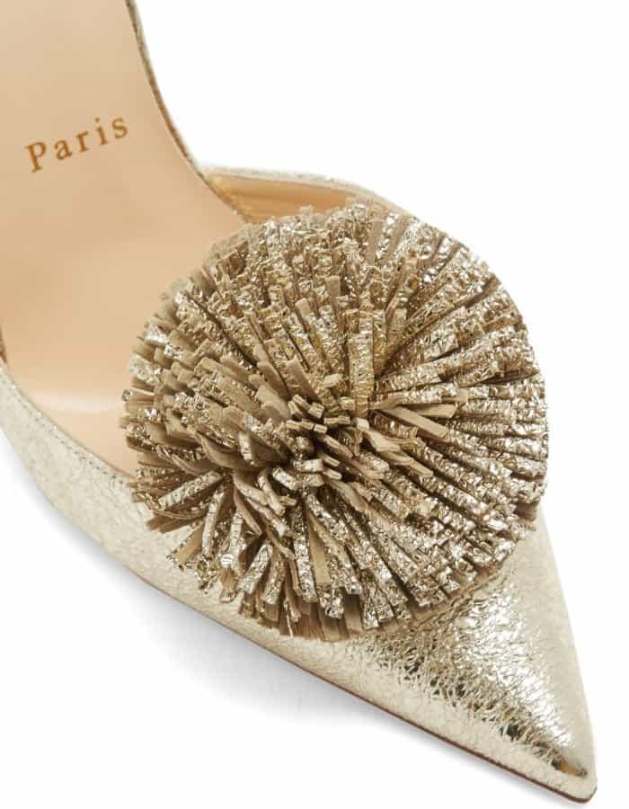 "Christian Louboutin ""Tsarou"" pompom-embellished leather pumps"