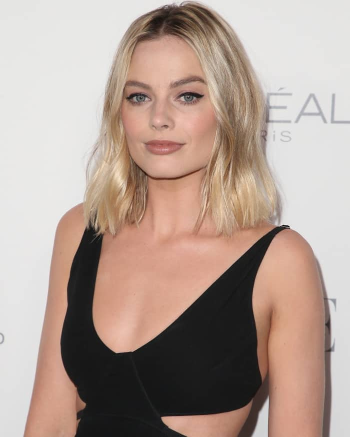 Margot Robbie's slightly tousled hair