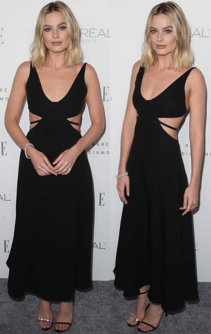 Margot Robbie switched it up with a sultry look in head-to-toe Calvin Klein