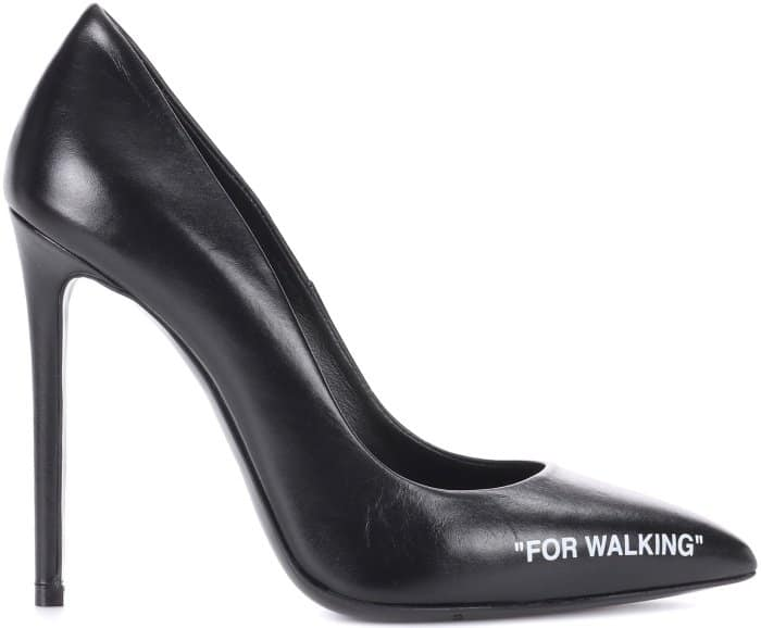"""Off-White """"For Walking"""" leather pumps"""