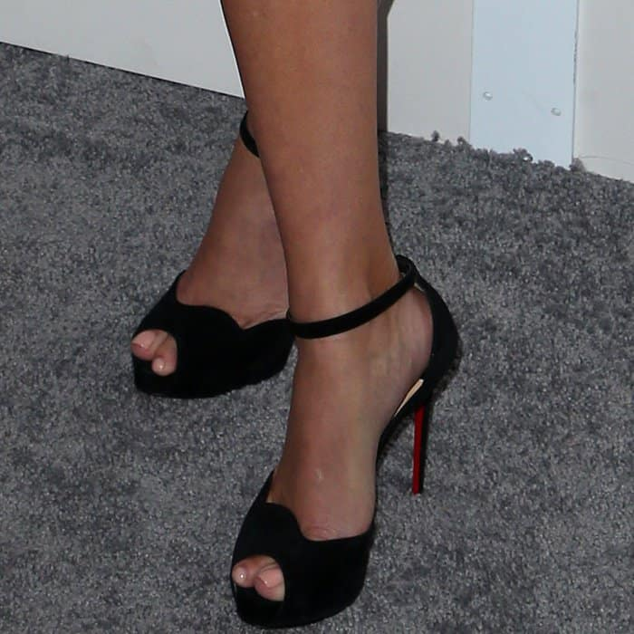 "Reese Witherspoon wearing Christian Louboutin ""Aketata"" sandals at Elle's 24th Annual Women in Hollywood Celebration"