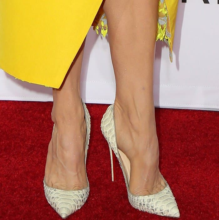 "Renee Zellweger wearing Christian Louboutin ""So Kate"" pumps at the ""Same Kind of Different As Me"" premiere"