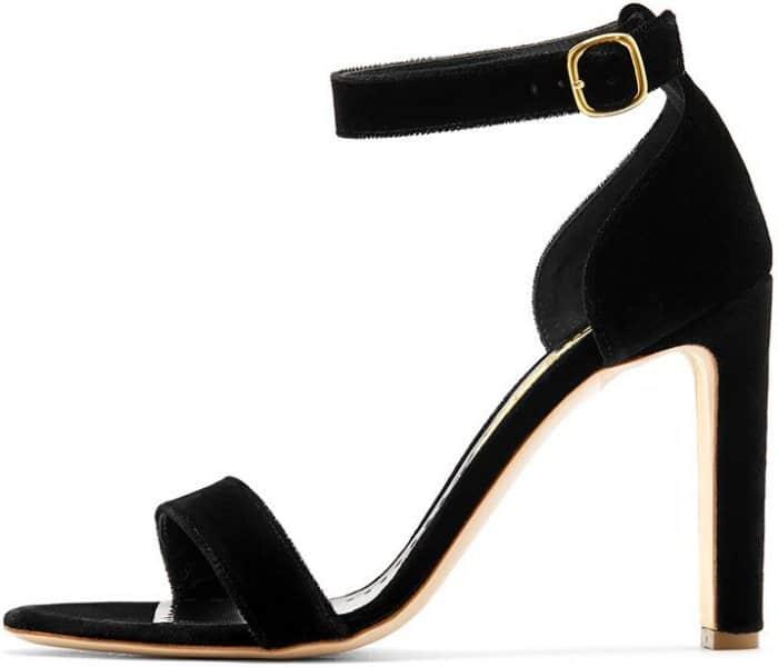 """Rupert Sanderson """"Myril"""" sandals in black velvet"""