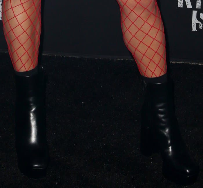 "Vanessa Hudgens wearing Alexander Wang ""Cora"" platform boots at Knott's Scary Farm"