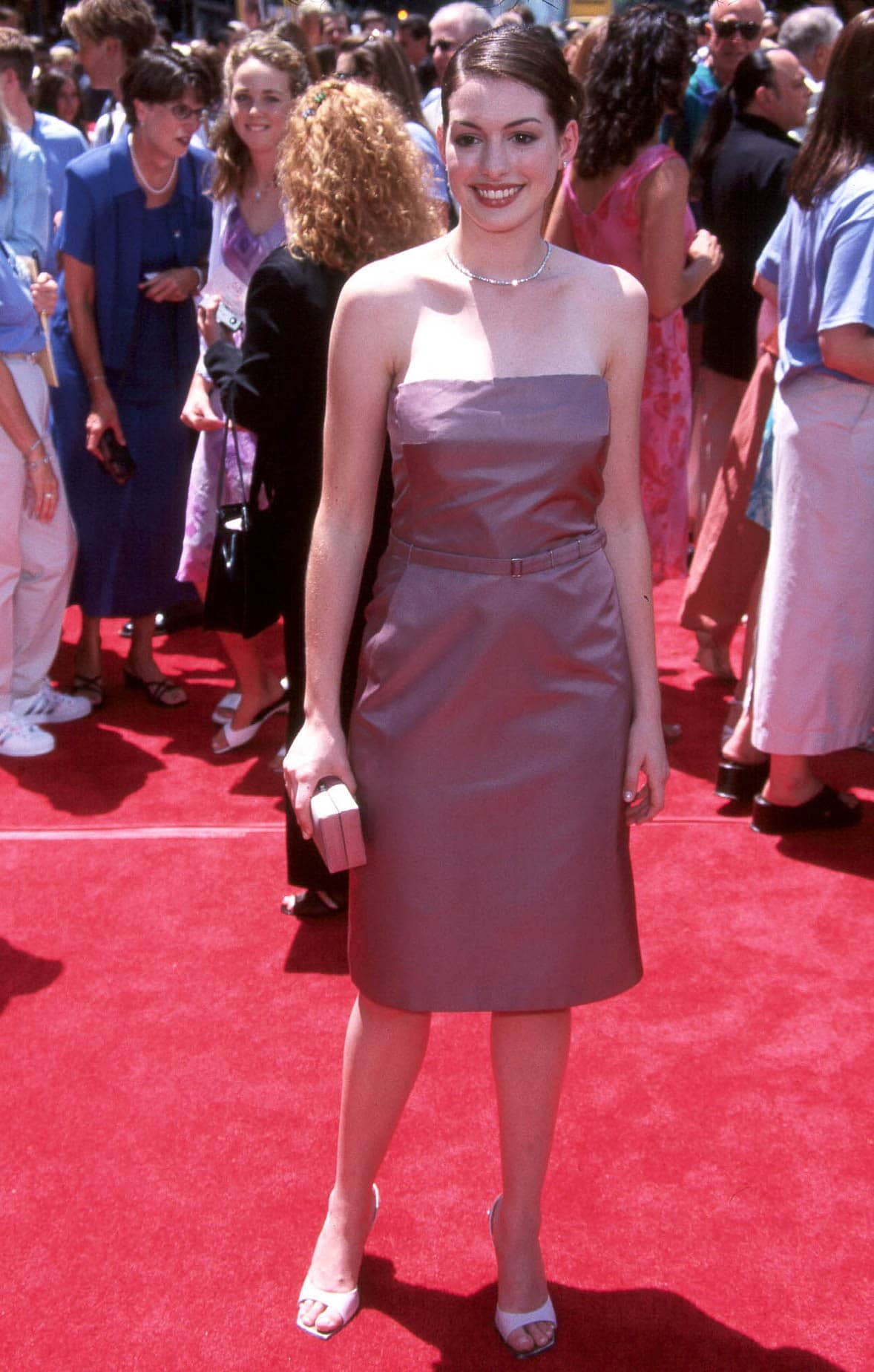 18-year-old actress Anne Hathaway arrives for the world premiere of The Princess Diaries