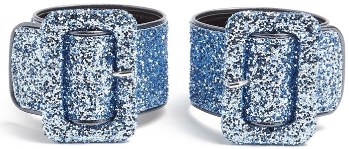 Attico Glitter Ankle Straps