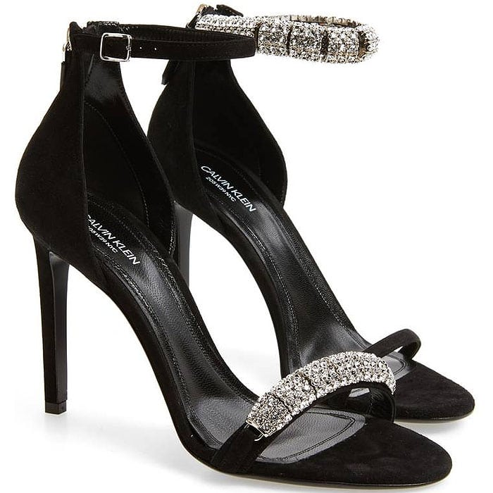Calvin Klein 'Camelle' Jeweled Ankle-Strap Sandals