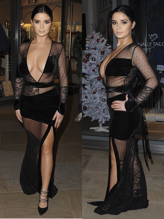 Demi Rose at The White Forest at Madison - launch party in London, England, on November 9, 2017.