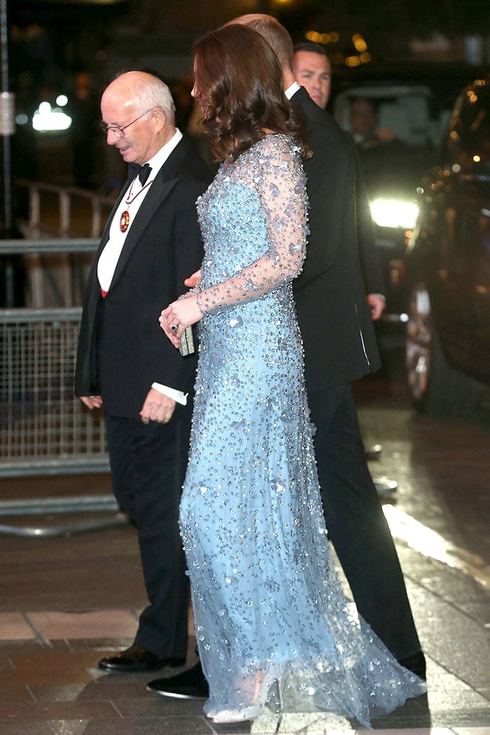 The Duke and Duchess of Cambridge attending the Royal Variety Performance held at Palladium Theatre in London, England, on November 24, 2017.