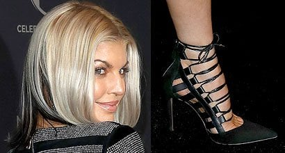 81c1d8ea2a3 Fergie Matches Two-Tone Nails to Blonde-and-Black Hair in Aquazzura   Amazon  Pumps