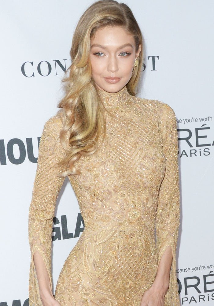 "Gigi Hadid at the 2017 Glamour ""Women of the Year"" Awards held at Kings Theatre in New York City on November 13, 2017"
