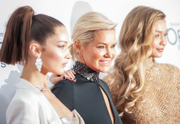 Gigi is joined by her sister Bella and mother Yolanda Foster