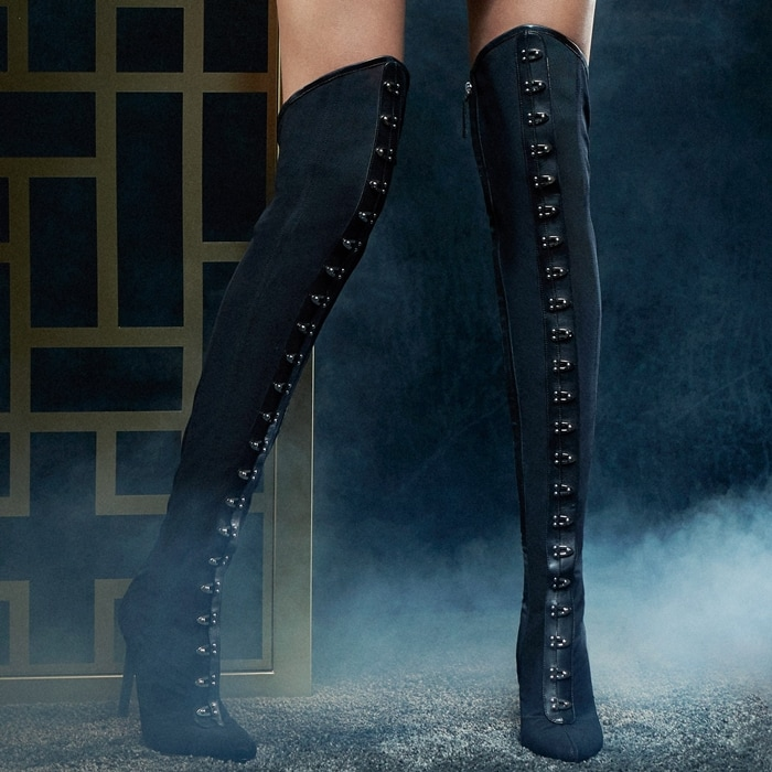 Corseted over-the knee boots by Giuseppe Zanotti