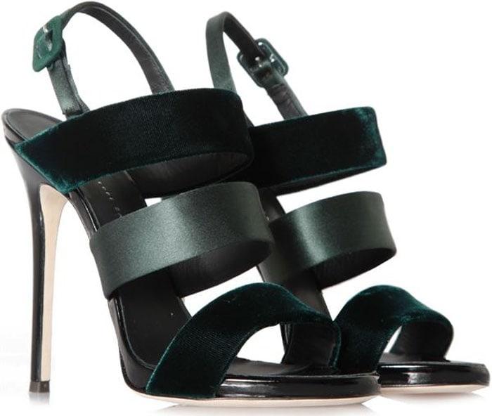 Giuseppe Zanotti Velvet and Satin Sandals