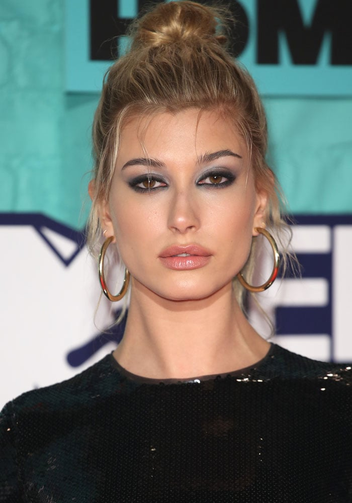 Hailey Baldwin at the MTV Europe Music Awards (EMAs) 2017 held at the Wembley Arena in London on November 12, 2017