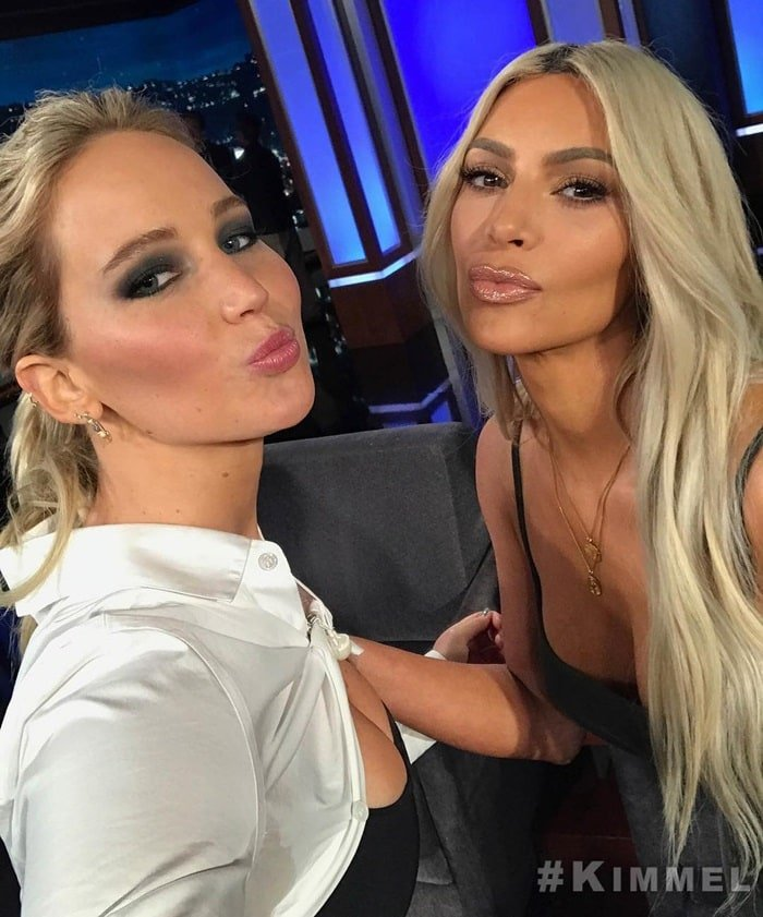 Image shared by @jimmykimmellive with the caption Guest Host Jennifer Lawrence is obsessed with @KimKardashian and has a LOT of amazing questions for her TONIGHT on #Kimmel!