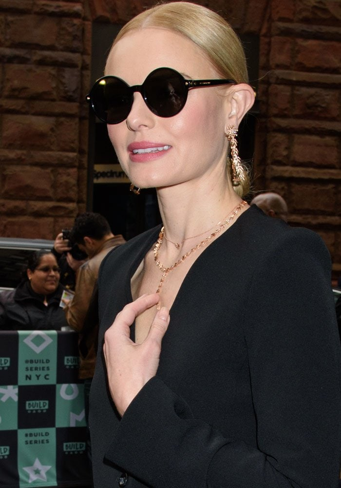 Kate Bosworth spotted at the AOL Build in New York on November 6, 2017