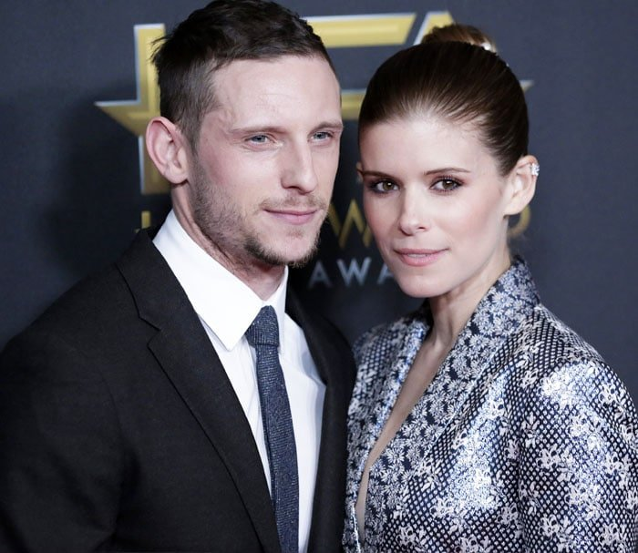 Kate poses with her husband Jamie Bell