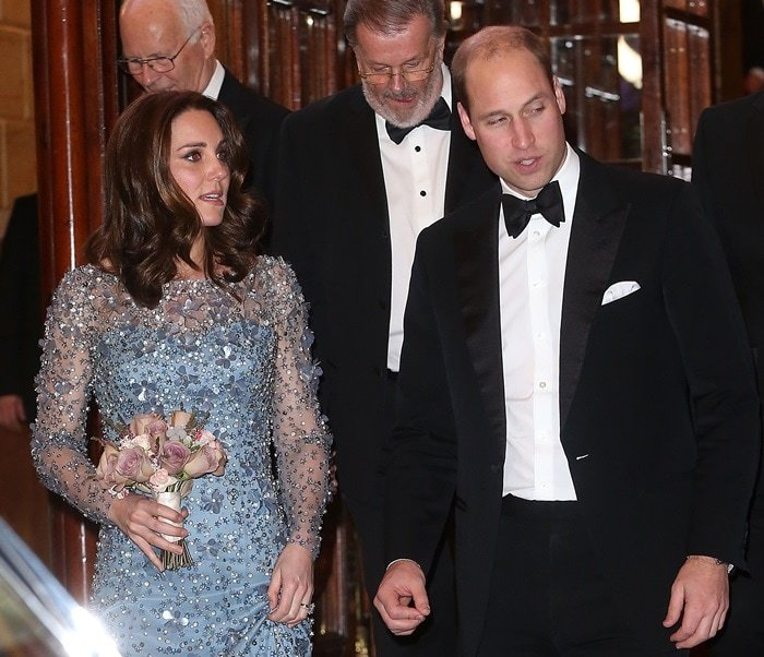 Surely, the Duchess's pregnancy contributed to her glow that evening
