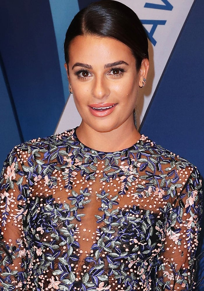 Lea Michele at the51st CMA Awards held at the Music City Center in Nashville on November 8, 2017