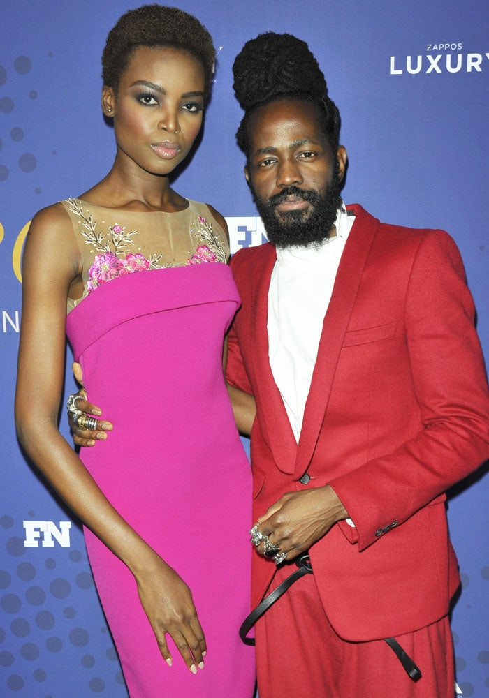 Maria was joined by Malone Souliers designer Roy Luwolt