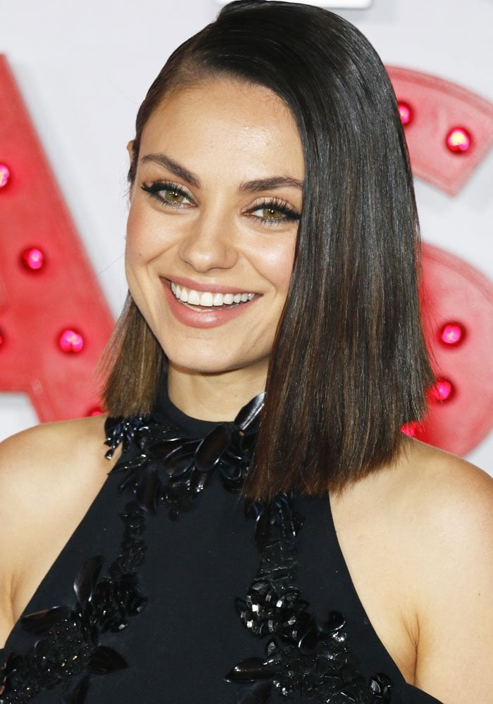 "Mila Kunis at the Los Angeles premiere of STX Entertainment's ""A Bad Moms Christmas"" on October 30, 2017"