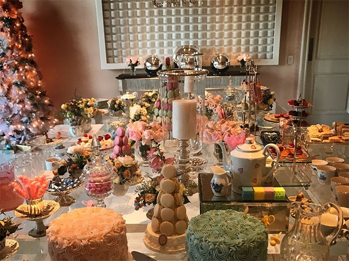 Paris Hilton's Instagram snap of the baby shower table spread arranged and decorated by their mother, Kathy Hilton. -- posted on November 21, 2017.