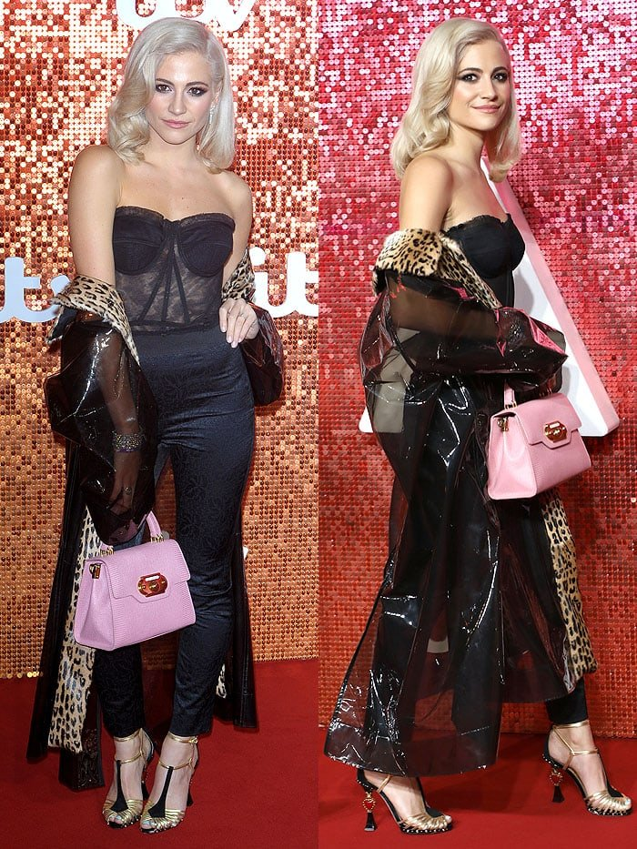 Pixie Lott at the ITV Gala held at the London Palladium in London, England, on November 9, 2017.