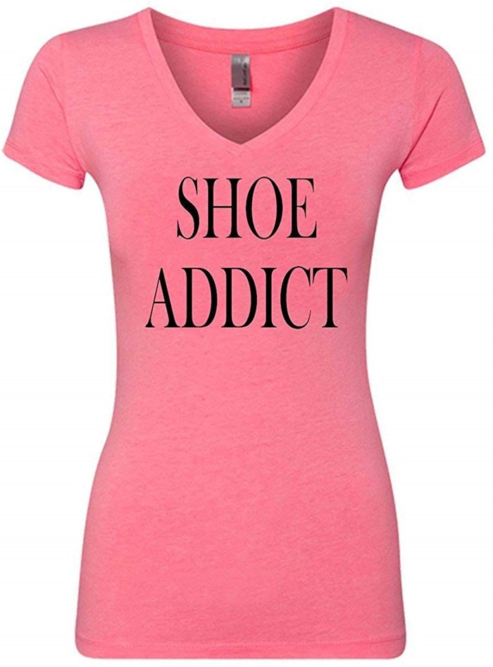 Shoe Addict Funny V-Neck T-Shirt