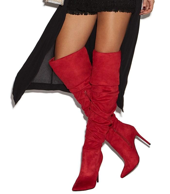 """Nadine"" Ruched Stiletto Boots"