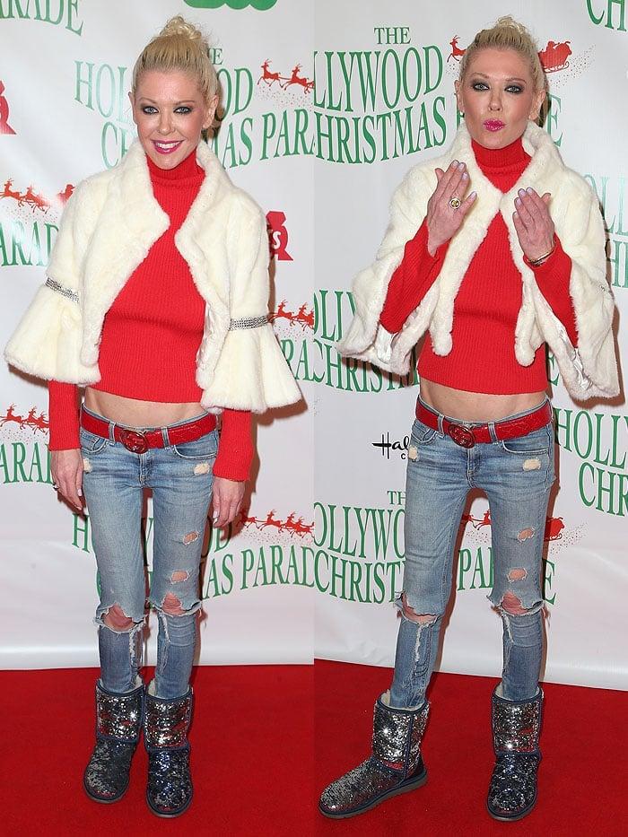 Tara Reid at the 2017 Hollywood Christmas Parade Celebration in Hollywood, California, on November 26,