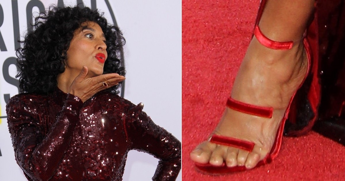 Tracee Ellis Ross Tortures Feet In Three-Strap Frontline Stiletto Sandals-6705