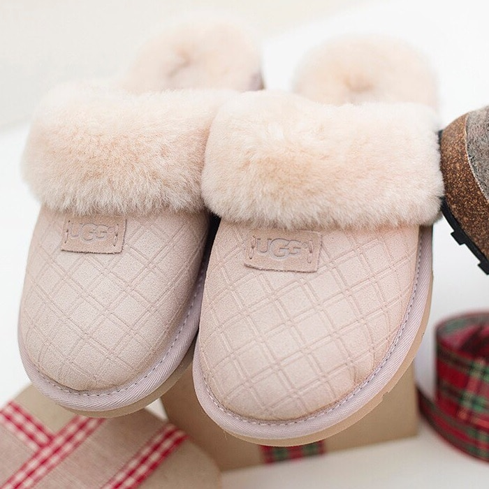 UGG 'Cozy Double Diamond Holiday Gift Box' Slippers