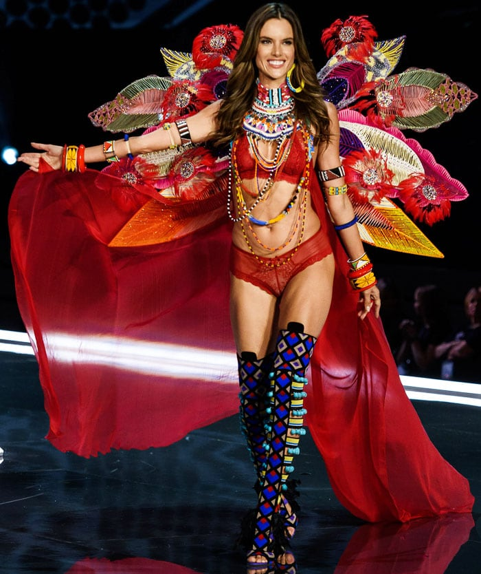 Alessandra Ambrosio takes her final walk after 17 years on the Victoria's Secret Fashion Show runway