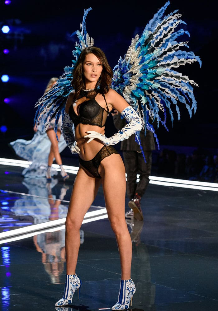 Bella Hadid receives her first pair of wings as a Victoria's Secret Angel