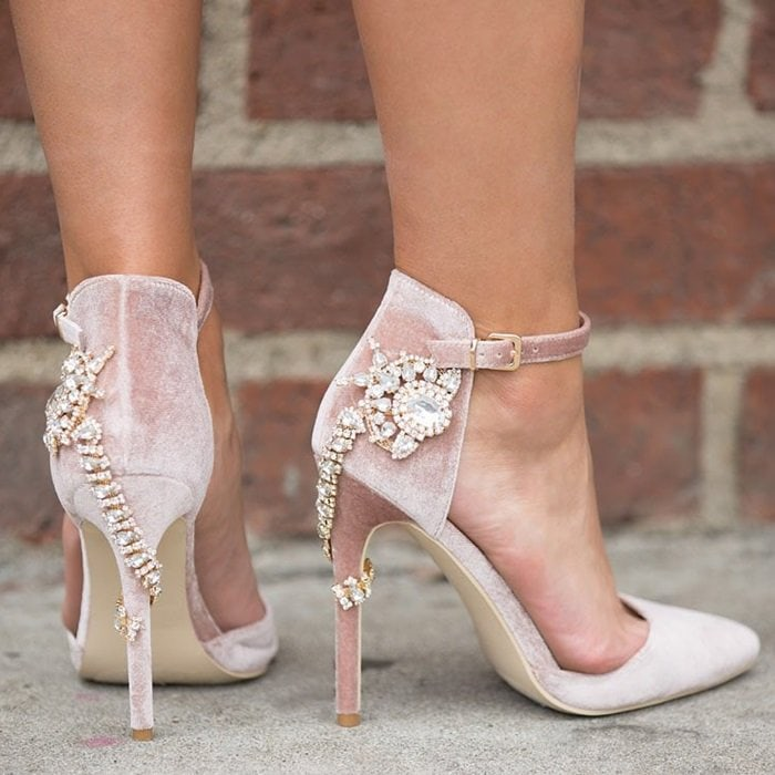 'Valerie' Embellished Heel Pumps