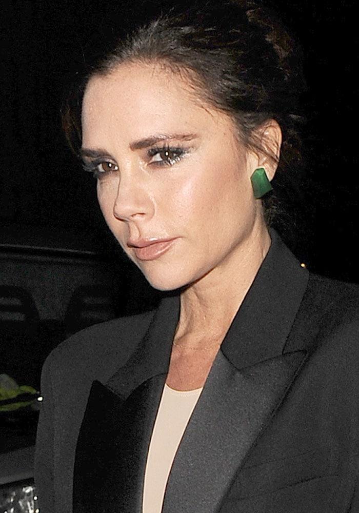 Victoria Beckham seen leaving her designer boutique on Dover Street in Mayfair on November 28, 2017