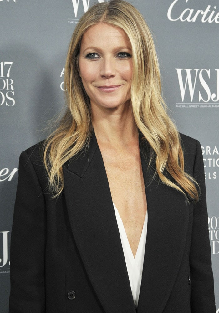 Gwyneth goes bold with a plunging neckline