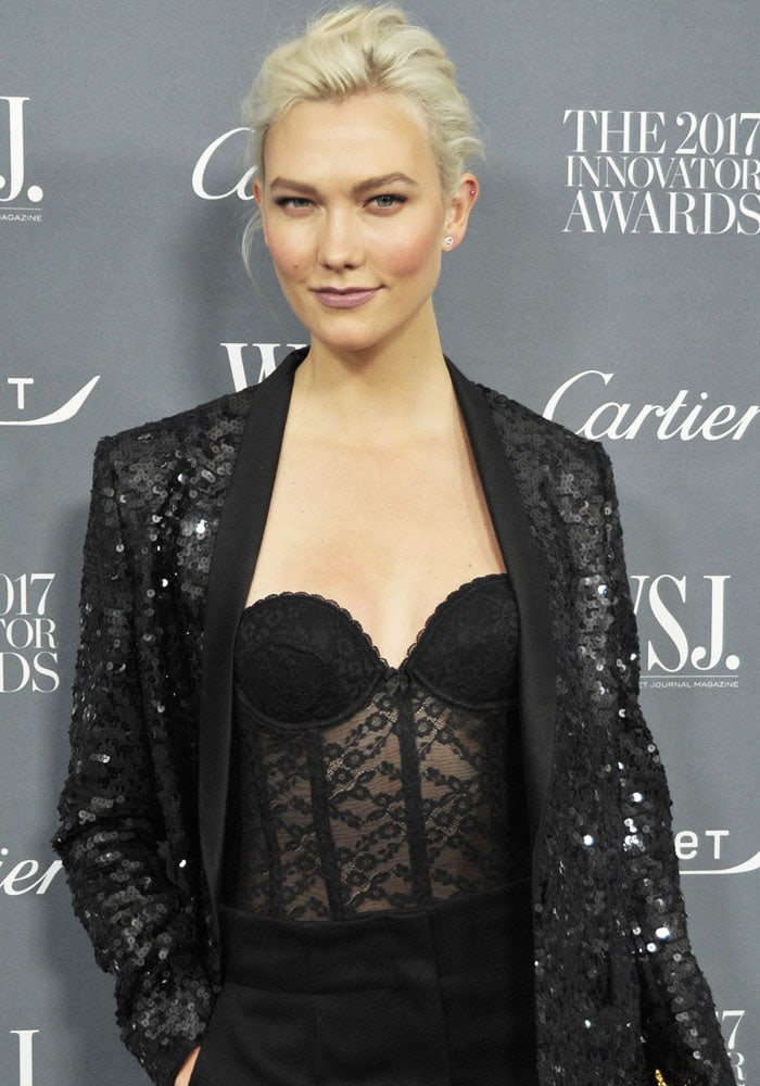 Karlie does a gorgeous mix of lace and sequins