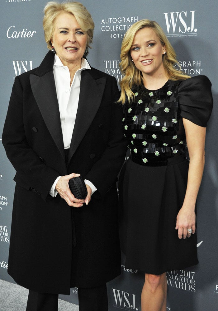 The actress poses with colleague Candice Bergen