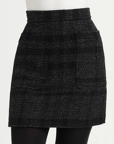 Burberry Brit Wool Check Skirt