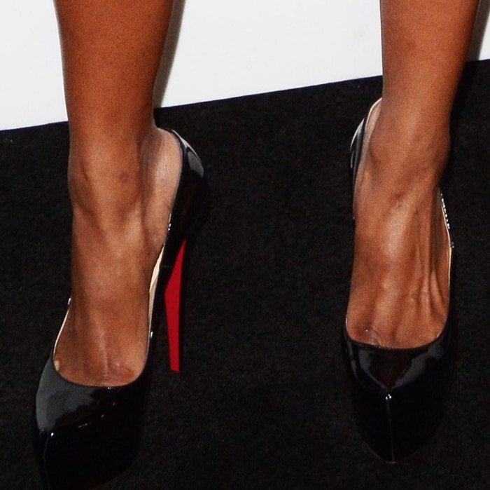 """Ciara wearing Christian Louboutin """"Bianca"""" pumps at the Bulgari """"From Rome to NYC"""" party"""