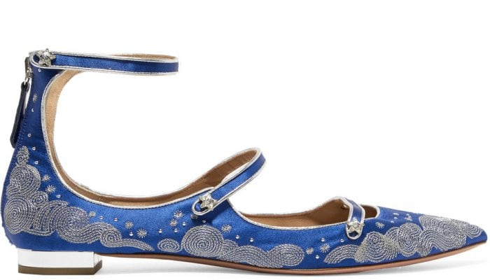 "Claudia Schiffer for Aquazzura ""Cloudy Star"" flats"