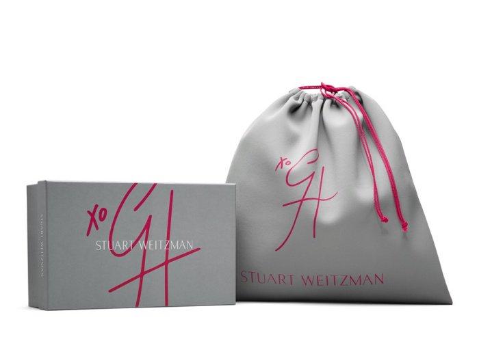 """Gigi Hadid x Stuart Weitzman """"Eyelovemore"""" mules"""