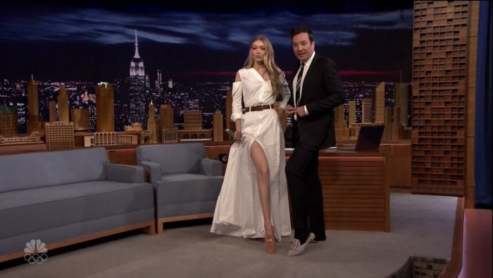 """Gigi Hadid during an appearance on """"The Tonight Show Starring Jimmy Fallon"""""""