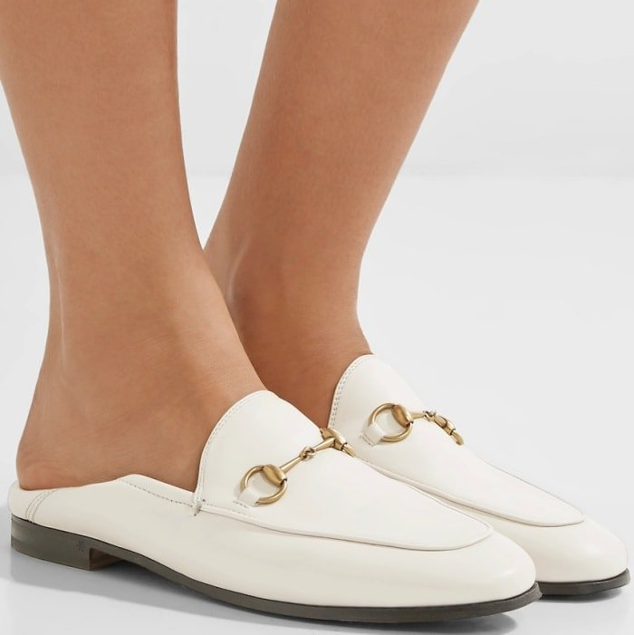 Gucci's horsebit-detailed leather collapsible-heel loafers debuted in 1953 and quickly became one of the house's most iconic styles