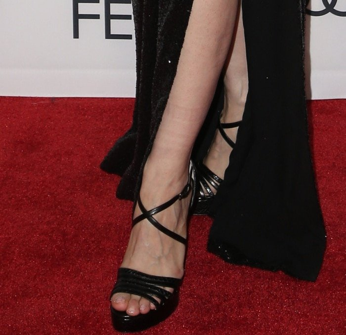 """Jessica Chastain wearing Paul Andrew shoes at the AFI Fest screening of """"Molly's Game"""""""