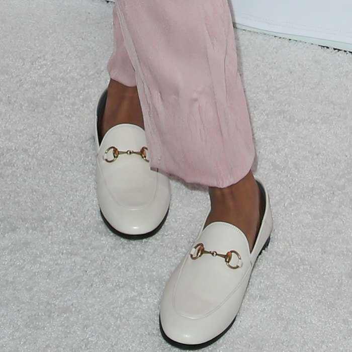 "Kat Graham wearing Gucci ""Brixton"" loafers at Variety's 1st Annual Hitmakers Luncheon"